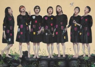 日本美術の名作と現代の事象をリミックスする田中武氏の作品展「NAN-PUK」