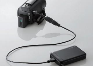 エレコム、デジタルビデオカメラから直接データを取り込める「ポータブルHDD」発売