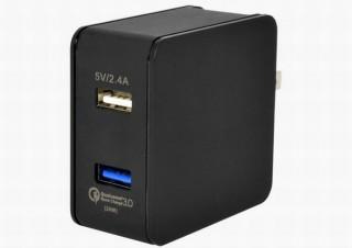 上海問屋、コンセントに挿し込んで急速充電できる「2ポートUSB急速充電器」発売
