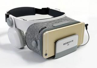 上海問屋、軽量で長時間の使用でも疲れないヘッドホン一体型VRゴーグルを発売