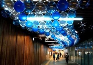 中之島駅や大江橋駅でイルミネーション装飾が展開される「フェスティバルステーション」