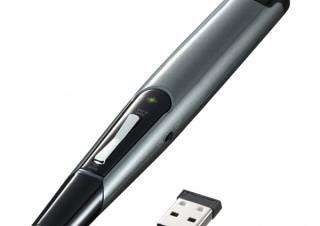 サンワサプライ、視認性の高い緑色光レーザーを採用したパワーポインターを発売
