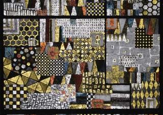 伝統的な引箔の技法を用いたオリジナルのアート作品を紹介する「箔画・野口琢郎展」