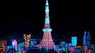 無印良品の3万7968本のカラーペンを積み上げて東京を表現した「TOKYO PEN PIXEL」