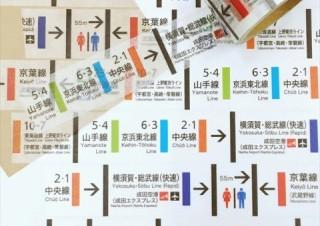 ヴィレヴァンから、鉄道ファンに贈るトレインアートグッズ「マスキングテープ東京駅のりば誘導標」発売