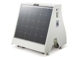 シャープ、太陽光パネルによる発電でスマホなどを充電できる移動可能な設置型スタンドを発売