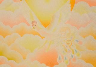 """手塚治虫氏の""""火の鳥""""とのコラボレーション作品も展示される「GOMA個展〜再生〜」"""