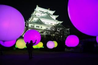 名古屋城冬まつりのメインコンテンツに「チームラボ 浮遊する、呼応する球体 – 名古屋城」が登場