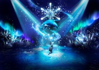 """アクアパーク品川で""""雪と氷の織りなす魔法""""を表現した新しい季節イベントがスタート"""