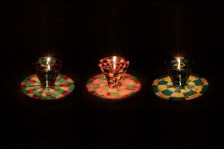 D-BROS、火を灯すとテーブルに美しい模様が映り込む「テンダーキャンドル」の新柄3種を発売