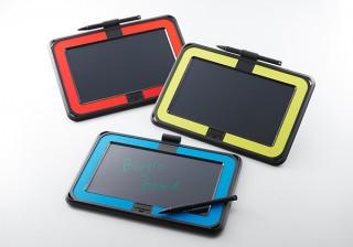 キングジム、ラバーケース付きの電子メモパッド「ブギーボード BB-10」を発売