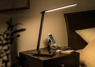 サンワ、5段階の色温度変更や無段階の明るさ調整に対応したUSBポート付きLEDデスクライトを発売