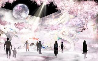 """""""日本一早いお花見""""を楽しめる花の体験型アート展「FLOWERS by NAKED 2018-輪舞曲-」"""