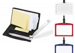 ゼブラより、社員証と一緒に「紙・ペン・名刺」がコンパクトに携帯できるカードホルダー「ペモ アイディー」発売