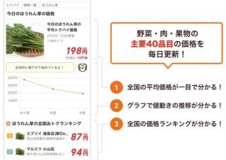 「トクバイ」が野菜の最安値が分かる救世主ツールを発表。本日の白菜平均価格は520円だが、最安値はなんと28円!