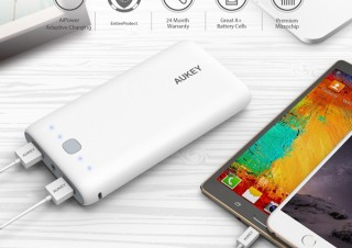 AUKEYより、20000mAhの大容量モバイルバッテリー「PB-N15(ホワイト) 」が期間限定で半額:1,499円