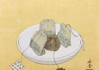 身近な物や日常風景をモチーフにしたユニークな日本画を描く葛西由香氏の個展「日々とあそび」