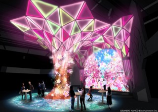 「VR ZONE SHINJUKU」の共有スペースで近未来の花見を体験できる演出がスタート