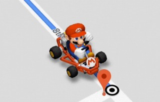 Googleマップの経路案内でマリオカートとドライブが楽しめる「マリオタイム」機能