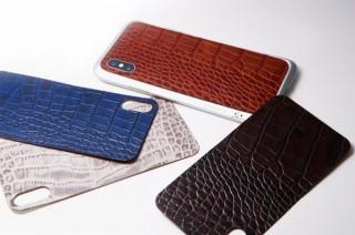 ディーフ株式会社、高級クロコダイル型レザーのiPhone X用背面カバー4種を発売。バンパーとの組み合わせも可能