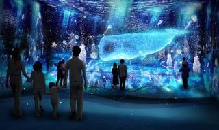 """インタラクティブな仕掛けで""""光の深海""""を楽しめるデジタルアート展がナガシマスパーランドで開催"""