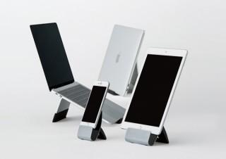 キングジム、スマホやノートPCなどをスタイリッシュに立て掛けられるスタンド「BASE」シリーズ
