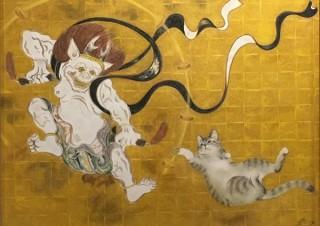 """歌川国芳や葛飾北斎をオマージュした作品など""""猫の国の国宝級のアート""""が集まる「猫都の国宝展」"""