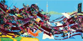 糸目友禅染で現代社会を描くアーティスト石井亨氏の個展「METROPOLITAN MOMENT」