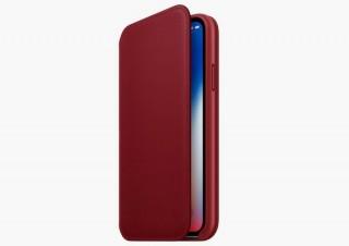 iPhoneの真紅の新色「RED」はXに非対応!でも手帳型の「レザーフォリオ」でカバー
