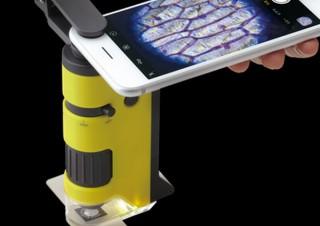透過型・落射型顕微鏡の2つが一つになってスマホで撮影もできる「ハンディ顕微鏡DX」