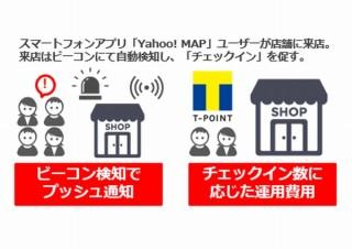 Yahoo! MAPをDLしてお店に行けばTポイント獲得。「松屋」「自遊空間」等が対象