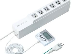 サンワ、差込口ごとにON・OFFのタイマーを設定できる電源タップ「TAP-RT1」を発売