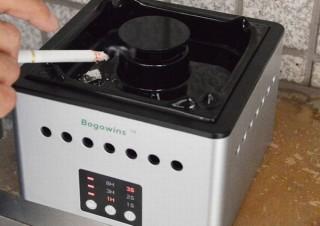 ボタン一つでタバコの煙を吸い取り空気清浄する「スモークレス灰皿」、サンコーから