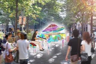 ピアノをキャンバスとして描いたアートが各地に出現する「Art Piano in Marunouchi」