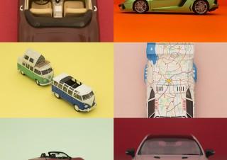 北澤志朗氏が手掛けたカープラモデルをアート写真とともに展示する「組み立てる とは なにか」展