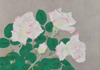 日本画と洋画のベテランから若手まで37名が描いた多彩な薔薇の絵を鑑賞できる「薔薇Festa」