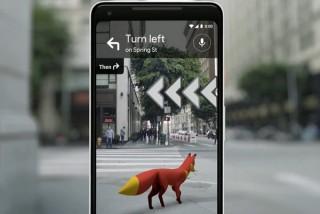 Googleマップで画面上のお狐さまが目的地まで導いてくれる「ARナビゲーション」発表