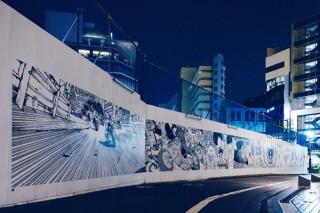 """渋谷PARCOの建て替え工事の仮囲いを活用した「AKIRA ART WALL」が""""第2章""""に突入"""