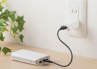 サンワサプライ、最大2A出力のコンパクトなUSB充電器を発売