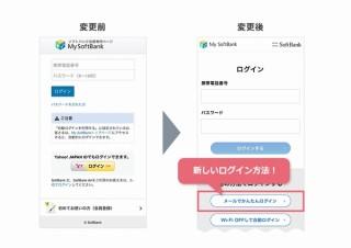 ソフトバンク、My SoftBankにパスワード不要の「メールでかんたんログイン」導入