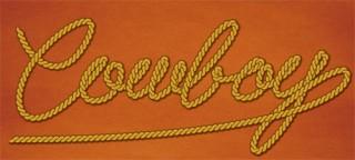 ロープでできたようなウエスタン風ロゴ
