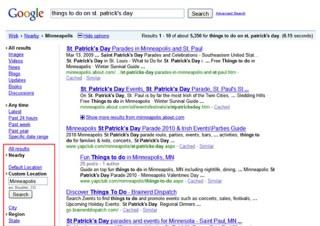 米Google、地域による絞り込み検索機能「Nearby」を追加