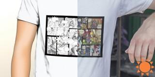 ギミック印刷のグッズに特化したショップ「オ・モ・ロ」がオープン!太陽光で絵が変化するTシャツも