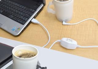 サンコー、紙コップの飲み物や缶コーヒーの温度を保てる「USB冷温紙コップホルダー」を発売