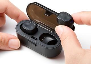サンワサプライ、充電ケース付き完全ワイヤレスイヤホン「MM-BTTWS001BK」を発売