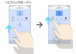ドコモ、上肢に障がいがあってもスマホが使いやすくなる「シンプルフリック」アプリ提供