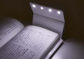 読書用ライトになるブックカバー「Book cover LIGHT」