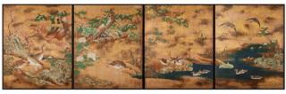 """キヤノンと京都文化協会による""""綴プロジェクト""""が英国大英博物館所蔵「秋冬花鳥図」の複製品を制作"""