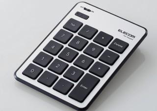 エレコム、最薄部6.5mmの超薄型設計「テンキーパッド」発売