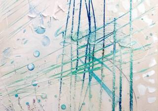 特殊な顔料と照明の組み合わせなど独特な技法で表現された安藤純氏の絵画展「Breath of Summer」
